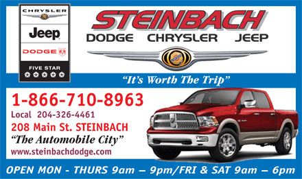Steinbach Dodge Chrysler Jeep (1-866-710-8963) - Annonce illustrée
