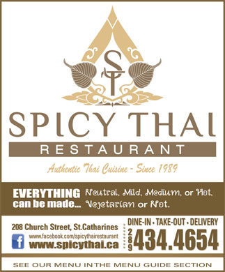 Spicy Thai Restaurant (905-687-8424) - Annonce illustr&eacute;e - 434.4654
