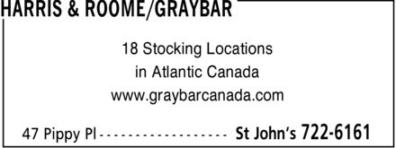 Graybar Canada (709-722-6161) - Display Ad - 18 Stocking Locations in Atlantic Canada www.graybarcanada.com