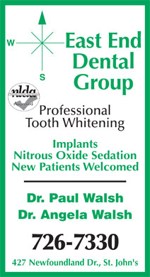 East End Dental Group (709-726-7330) - Annonce illustr&eacute;e