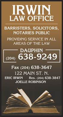 Irwin Law Office (1-866-248-1107) - Annonce illustrée