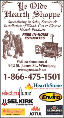 Ye Olde Hearth Shoppe (1-866-475-1501) - Display Ad
