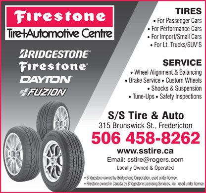 Firestone Tire and Automotive Centre (506-458-8262) - Display Ad
