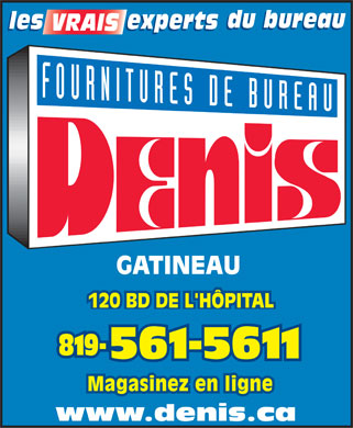 Denis Fournitures De Bureau (819-561-5611) - Display Ad