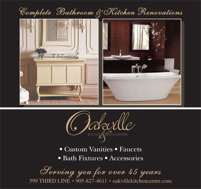 Oakville Kitchen & Bath Centre (905-827-4611) - Display Ad