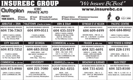 KRG Insurance (western) Inc (604-696-4753) - Display Ad