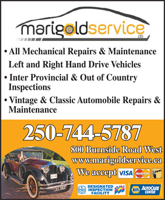 Marigold Service Ltd (250-744-5787) - Annonce illustr&eacute;e