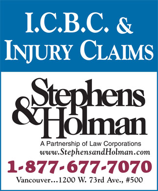 Stephens & Holman (1-877-677-7070) - Display Ad