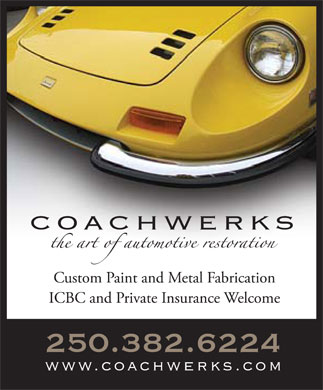 Coachwerks Automotive Restorations (250-382-6224) - Annonce illustrée