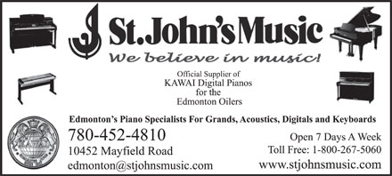 St John's Music (780-452-4810) - Display Ad