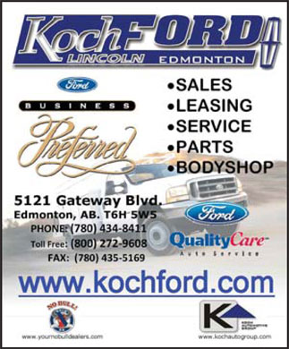 Koch Ford Lincoln Sales (2003) Ltd (780-434-8411) - Display Ad