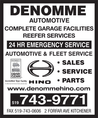 Denomme Automotive (519-743-9771) - Display Ad