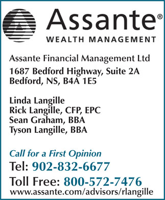 Assante Financial Management Ltd (902-832-6677) - Annonce illustrée