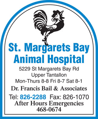 St Margarets Bay Animal Hospital (902-826-2288) - Display Ad