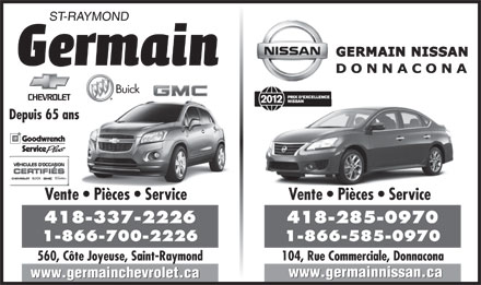 Germain Saint-Raymond (418-337-2226) - Display Ad