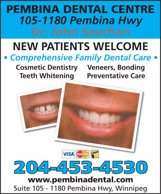Pembina Dental Centre (204-453-4530) - Annonce illustrée - www.pembinadental.com  www.pembinadental.com  www.pembinadental.com  www.pembinadental.com
