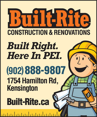 Built-Rite Construction & Renovations (902-888-9807) - Annonce illustrée