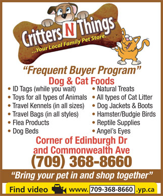 Critters & Things (709-368-8660) - Display Ad