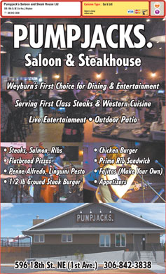 Pump Jack's Saloon And Steak House Ltd (306-842-3838) - Menu