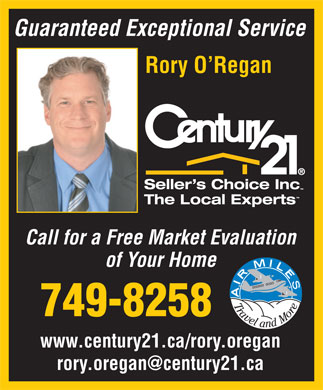 Oregan Rory Century 21 Seller's Choice Inc (709-749-8258) - Annonce illustrée