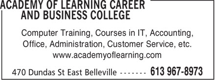 Academy Of Learning Career and Business College (613-707-2130) - Annonce illustrée - Computer Training, Courses in IT, Accounting, Office, Administration, Customer Service, etc. www.academyoflearning.com  Computer Training, Courses in IT, Accounting, Office, Administration, Customer Service, etc. www.academyoflearning.com  Computer Training, Courses in IT, Accounting, Office, Administration, Customer Service, etc. www.academyoflearning.com  Computer Training, Courses in IT, Accounting, Office, Administration, Customer Service, etc. www.academyoflearning.com  Computer Training, Courses in IT, Accounting, Office, Administration, Customer Service, etc. www.academyoflearning.com
