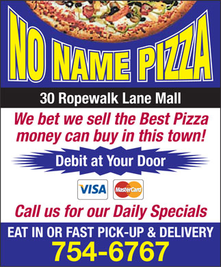 No Name Pizza (709-754-6767) - Display Ad