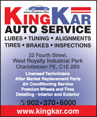 King Kar Auto Service (902-370-6000) - Annonce illustr&eacute;e