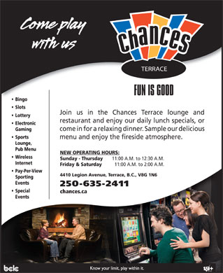 Chances Terrace (250-635-2411) - Display Ad