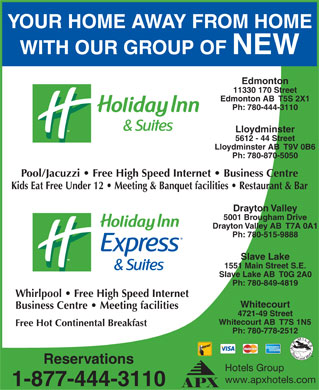 Holiday Inn & Suites Lloydminster (780-870-5050) - Display Ad