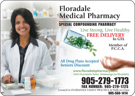 Floradale Medical Pharmacy Ltd (905-279-1773) - Display Ad