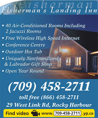 Fisherman's Landing Inn (709-458-2711) - Display Ad