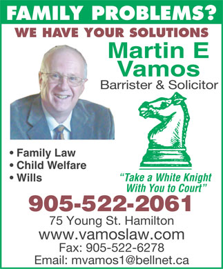 Vamos Martin (905-522-2061) - Display Ad