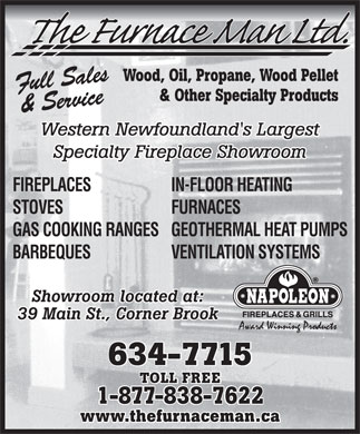 Furnace Man Ltd The (709-634-7715) - Display Ad