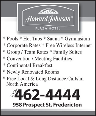 Howard Johnson (506-462-4444) - Display Ad