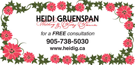 Heidi Gruenspan Wedding & Party Planner (416-617-7944) - Display Ad