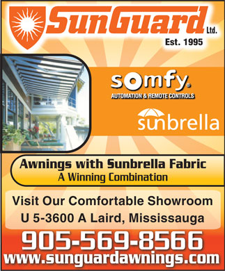 Sunguard Products Ltd (905-569-8566) - Annonce illustrée