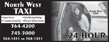 North West Taxi (709-364-1451) - Annonce illustrée