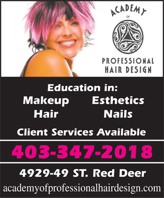 Academy Of Professional Hair Design (403-347-2018) - Annonce illustrée