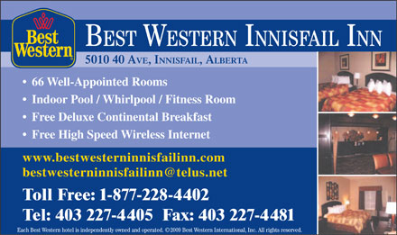 Best Western (403-227-4405) - Display Ad