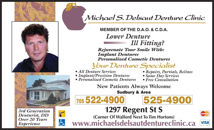 Delsaut Michael S Denture Clinic (705-522-4900) - Display Ad