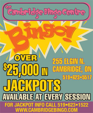 Cambridge Bingo Centre (519-623-5517) - Display Ad