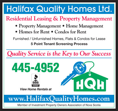 Halifax Quality Homes Ltd (902-442-6822) - Display Ad