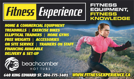 Fitness Experience (204-775-3401) - Display Ad