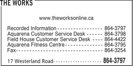 The Works (709-864-3797) - Display Ad - www.theworksonline.ca www.theworksonline.ca