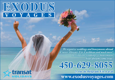 Exodus Voyages (450-629-8055) - Display Ad