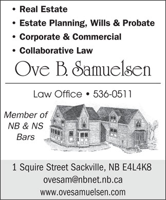 Samuelsen Ove B (506-536-0511) - Display Ad