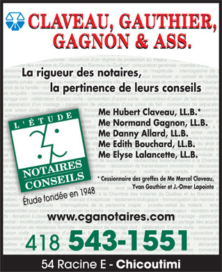 Claveau gauthier gagnon ass 54 rue racine e chicoutimi qc - Prescription acquisitive immobiliere ...