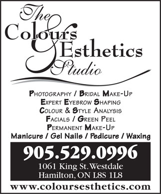 The Colours Esthetics Studio (905-529-0996) - Display Ad