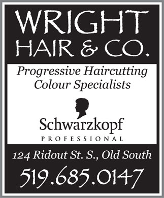 Wright Hair & Co (519-685-0147) - Display Ad