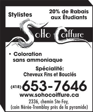 Salon de coiffure soho 2336 ch sainte foy qu bec qc - Salon de coiffure place ste foy ...